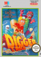 Nintendo NES: Digger T. Rock The Legend of the Lost City - Cart & Manual Only